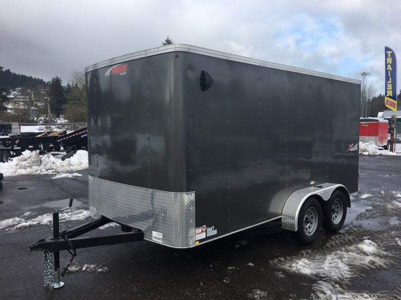 7x14 Enclosed Cargo Trailer **  Double Door  **  6'' of extra height