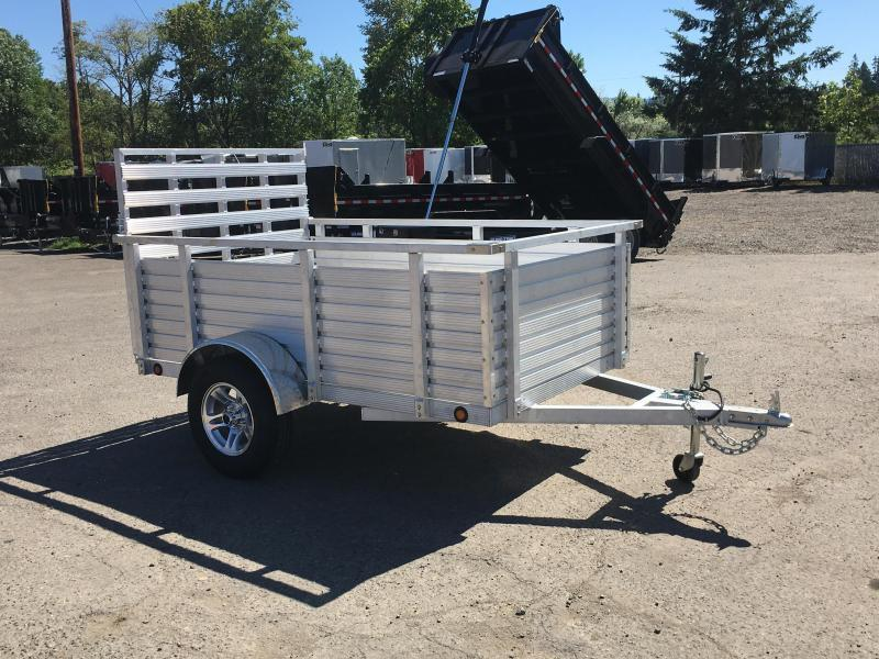 "Christmas Blowout Sale! 5X8 Aluminum Utility Trailer With 30"" Sides And Drop Gate 3K"