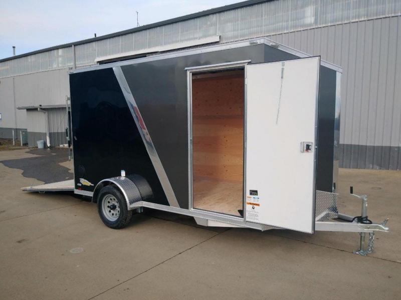 6 x 12 Enclosed Cargo Trailer **All Aluminum  **  Rear Ramp Door  **  6'' of extra height  **  24'' Slanted V Nose  **