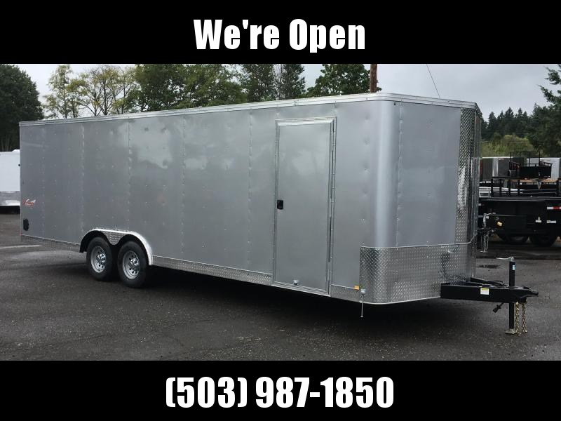 8.5x24 Enclosed Car Trailer With Plus Height