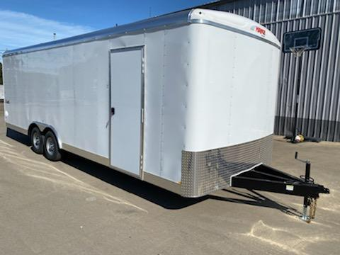 8.5x24 Enclosed Cargo Trailer  **  Car Carrier Package  **  16 On Center Crossmembers  **  Spare tire and interior mount  **