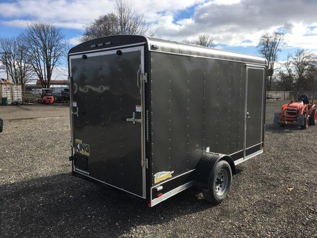 6x12 Enclosed Cargo Trailer With Ramp Door