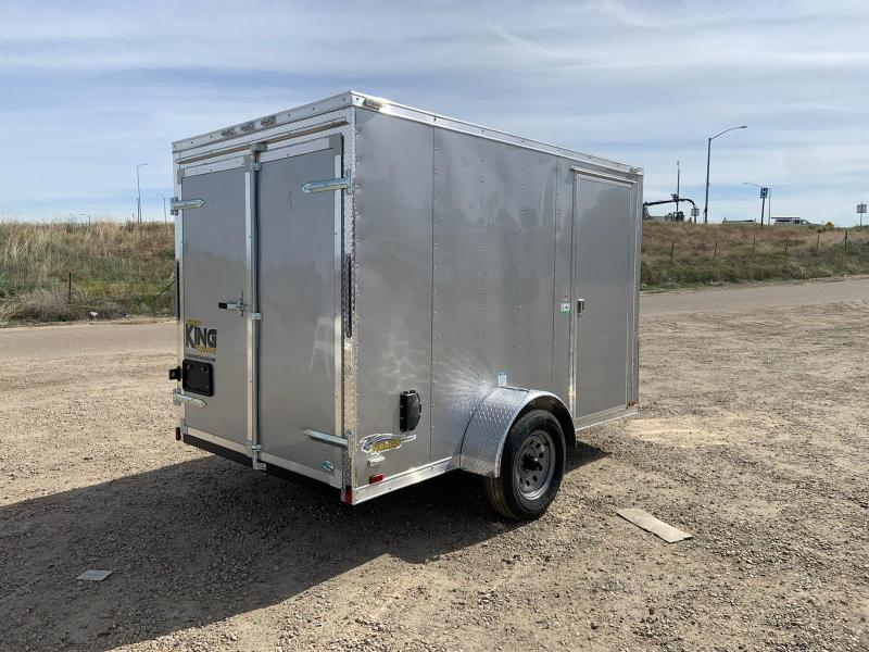 Cargo King 6X10 Single Axle Enclosed Trailer With Rear Double Doors