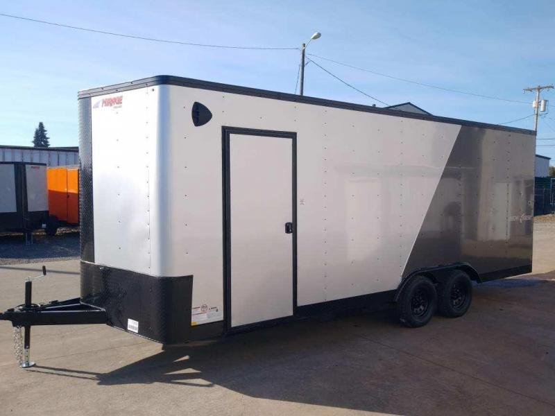 8.5 x 20 Enclosed Cargo Trailer ** Side by Side Package ** Road Side Door ** Rear Ramp Door **