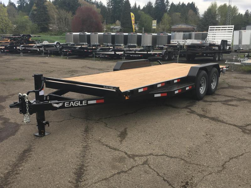 7x20 14k Flat Bed Car Hauler Equipment Trailer