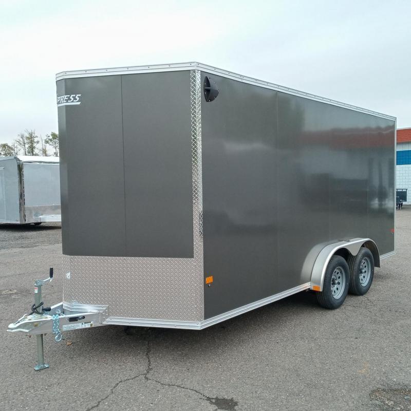 7x16 Enclosed Aluminum Cargo Trailer 7.5 Wide
