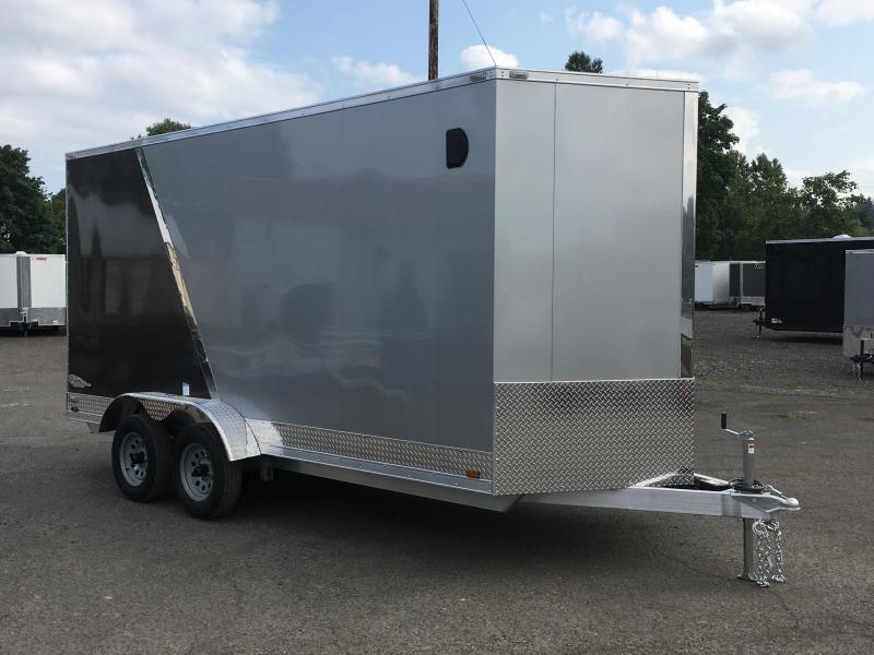 7x14 Tandem Axle Aluminum Cargo Trailer **Side X Side**