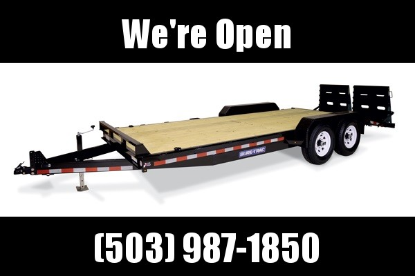 7x18 Equipment Trailer HD Univ Ramp  14K