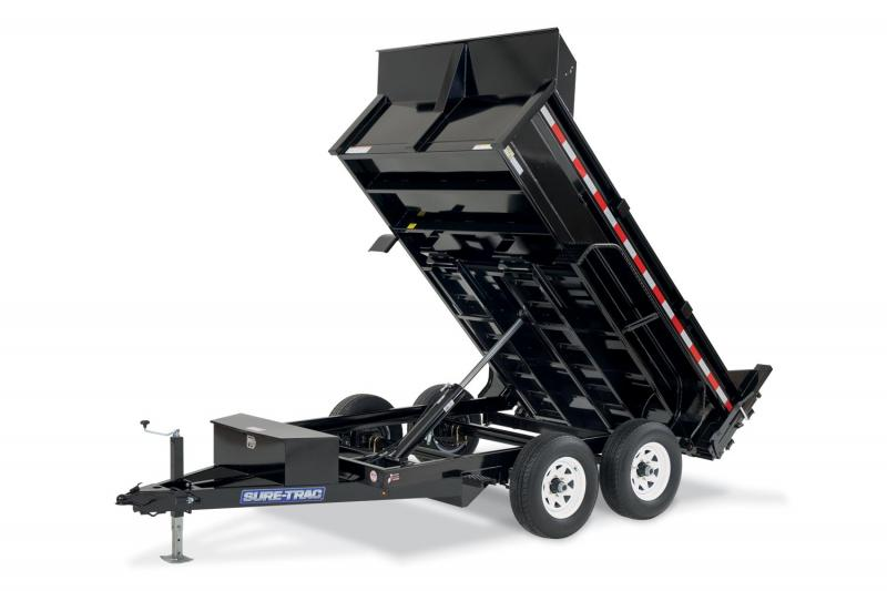 Christmas Blowout Sale! New 6X10 10K Dump Trailer With Spreader Gate and Ramps
