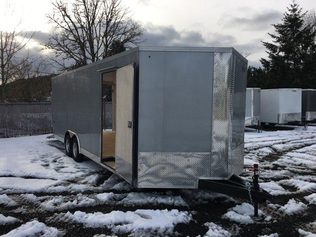 8.5x24 Enclosed Car Cargo Trailer **Screwless Skins**