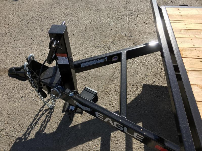 7x18 Black Hawk Heavy Duty Equipment Trailer 14K