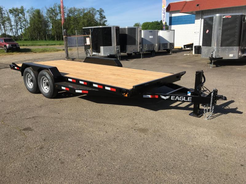 7x18 Black Hawk Heavy Duty Equipment Trailer 14K