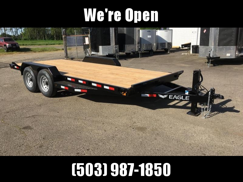 7x18 Black Hawk Heavy Duty Equipment Trailer