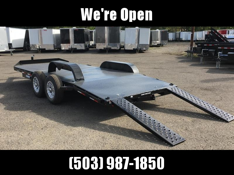 7x18 Car Hauler 7k Steel Deck Open Utility Trailer