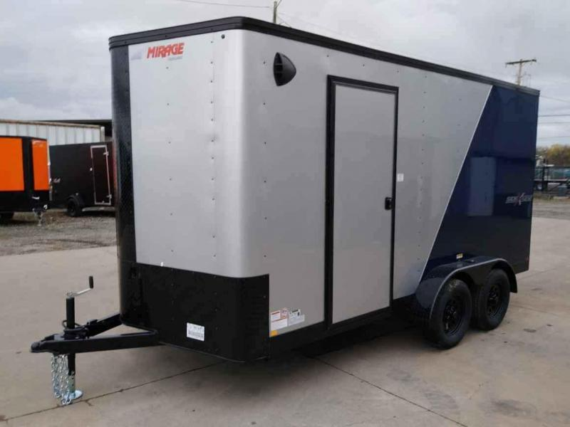 7 x 14 Enclosed Cargo Trailer ** Side by Side Package ** 79'' Rear Ramp Door **