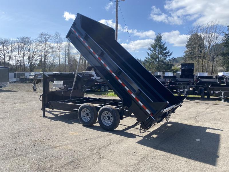 7x14 Gooseneck Dump Trailer 14K Telescopic Dump And Ramps