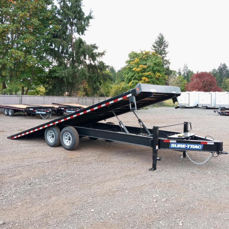 8.5x22 Heavy Duty Low Profile Power Tilt Deck Over Equipment Trailer **Winch Mount Plate**