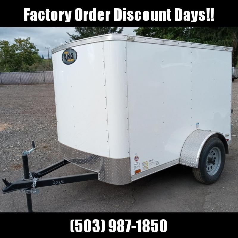 5x8 Enclosed Cargo Trailer With Double Door **FACTORY ORDER**