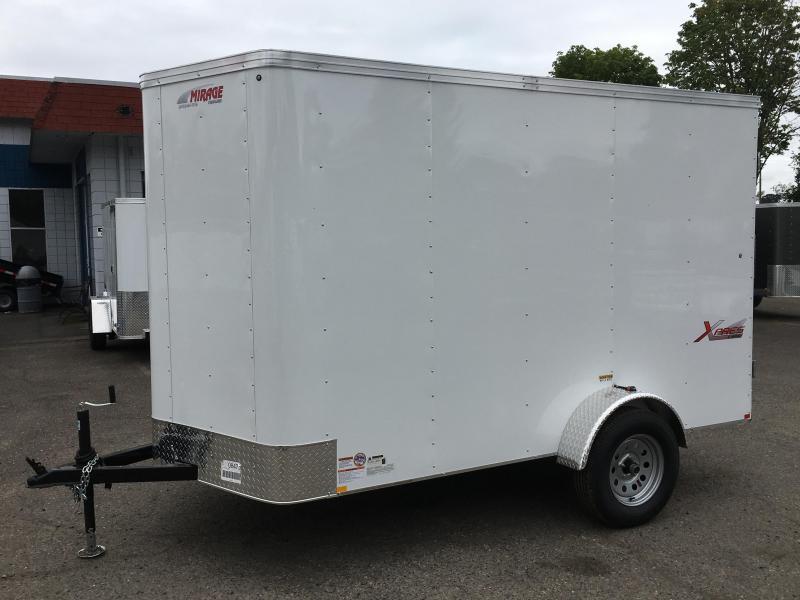 6x10 Enclosed Cargo Trailer With Camlock Door And Double Door