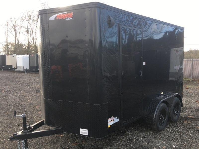 7x12 Enclosed Cargo Trailer **Side by Side**