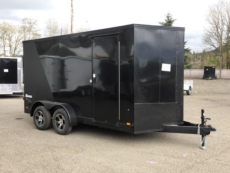 7x14 Enclosed Cargo Trailer **Side X Side**