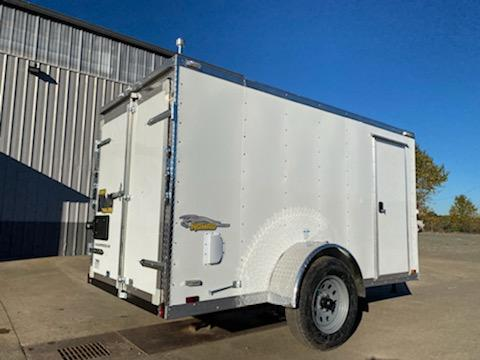 New Cargo King 5x10 Enclosed Trailer ** Slanted V Nose ** Rear Double Door **