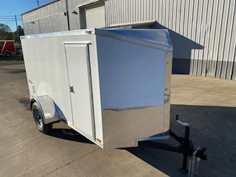 5x10 Enclosed Cargo Trailer ** Slanted V Nose ** Rear Double Door **