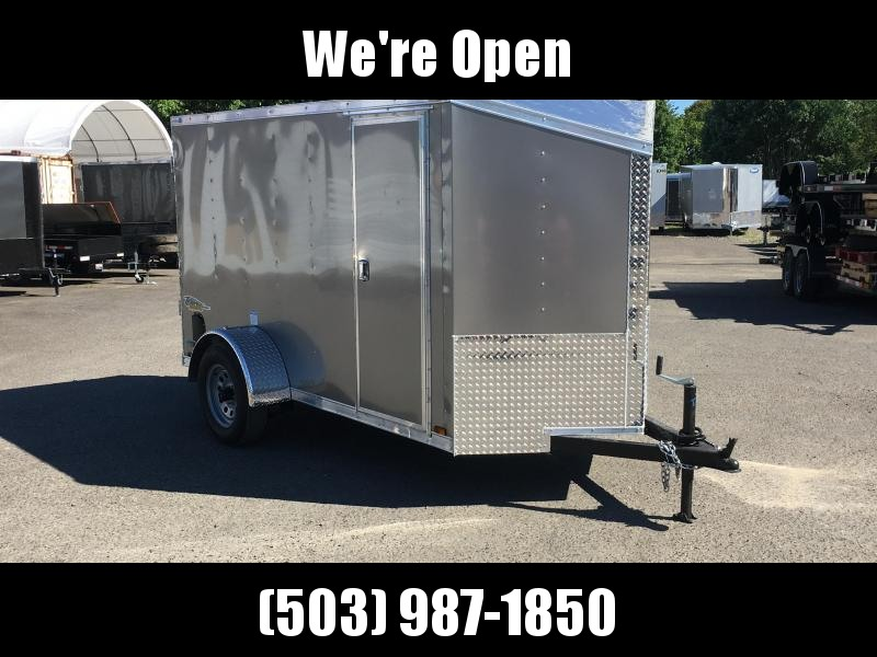 5x10 Enclosed Cargo Trailer With Ramp and Plus Height