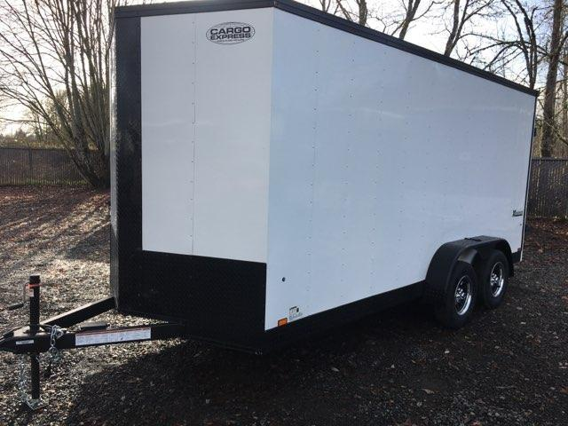 7x16 Enclosed Cargo Trailer **Side X Side**