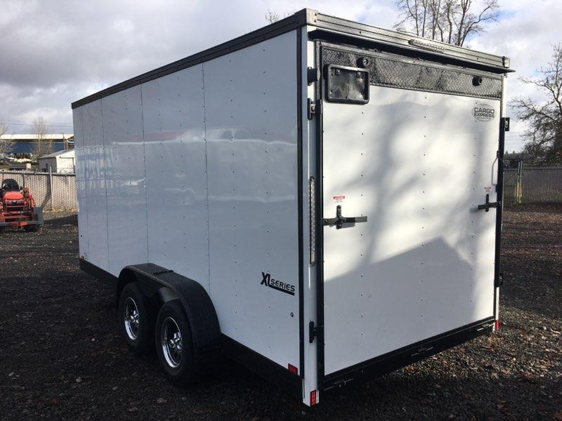 7x16 Enclosed Cargo Trailer **Side X Side**