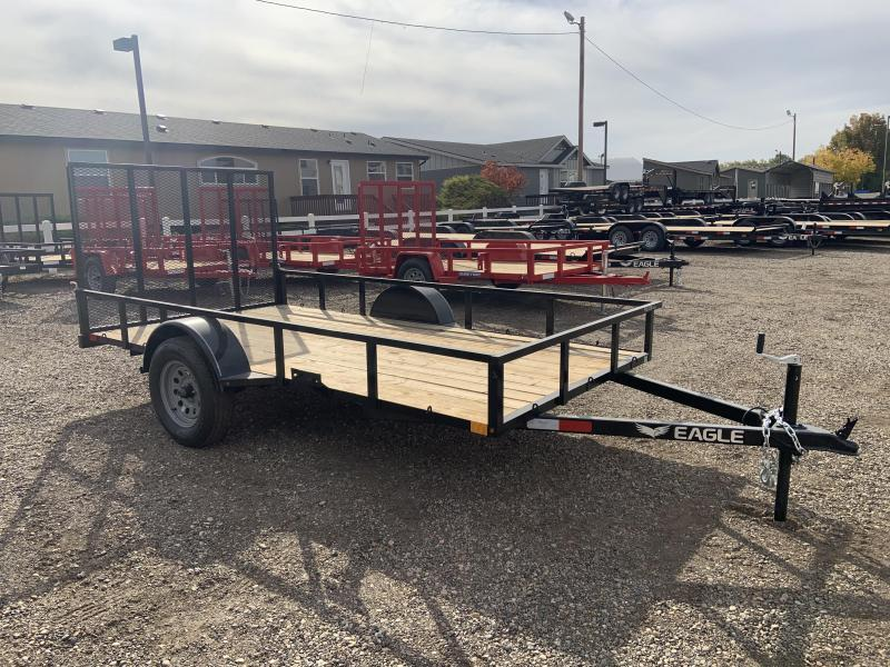 "6.5x10 Single Axle Utility Trailer w/ 12"" Top Rail"