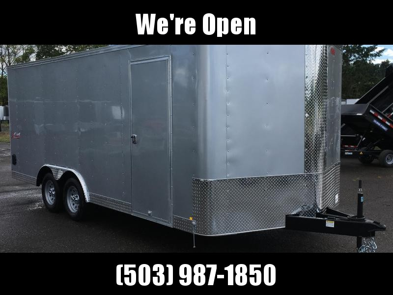 8.5x18 Enclosed Car Trailer