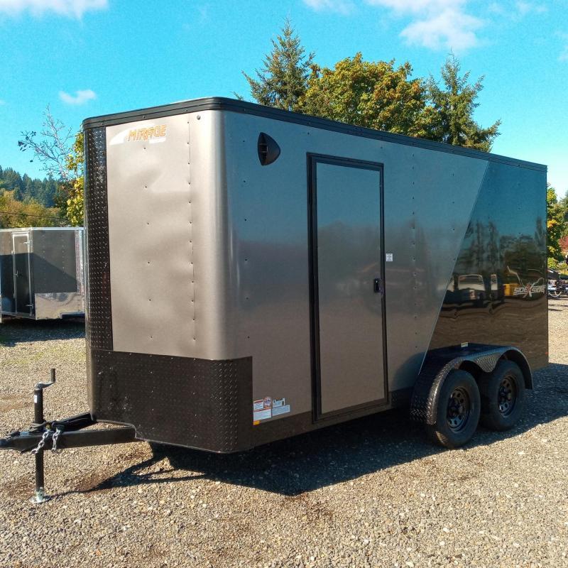 7x14 7k Enclosed Cargo Trailer **Side X Side**