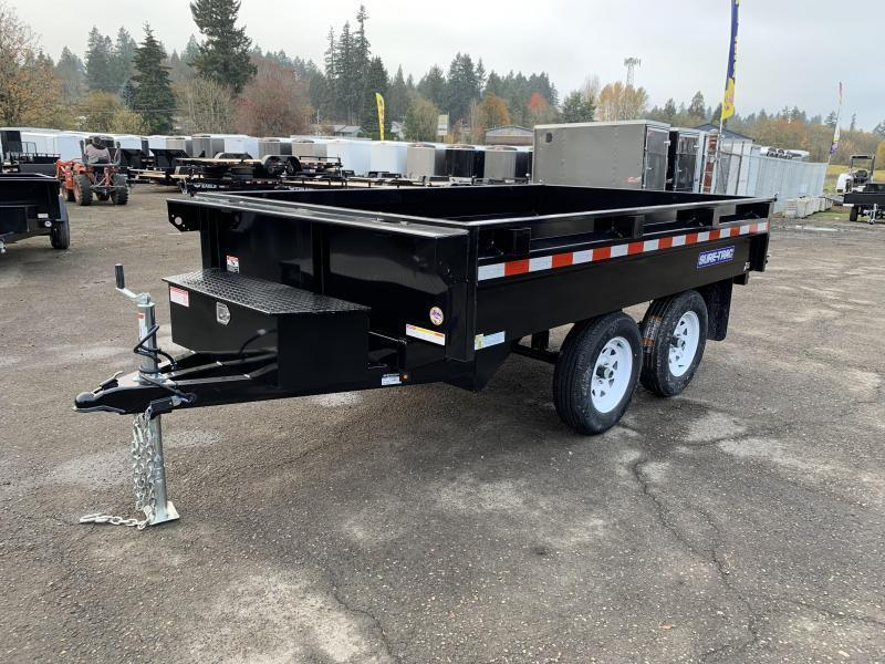 6x10 Deckover Dump Trailer 10K Single Ram