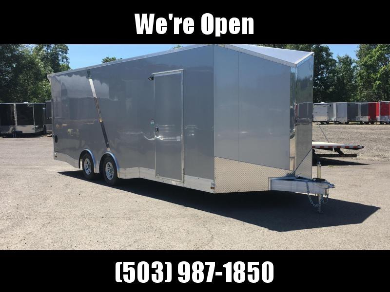 8.5x24 Tandem Axle All Aluminum Enclosed Cargo Trailer