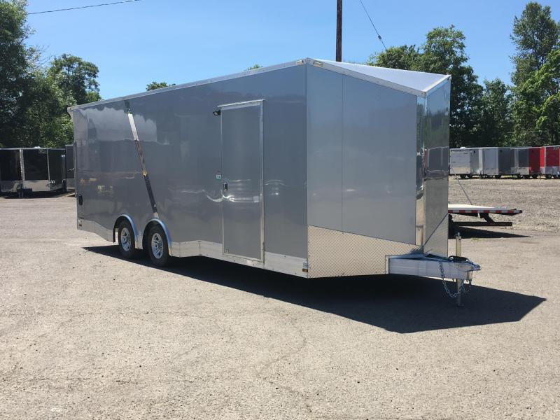 8.5x24 Tandem Axle All Aluminum Enclosed Cargo Trailer