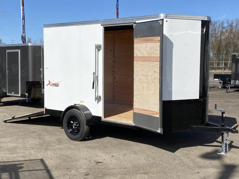 6x10 Enclosed Cargo Trailer With Ramp And **Black Out**