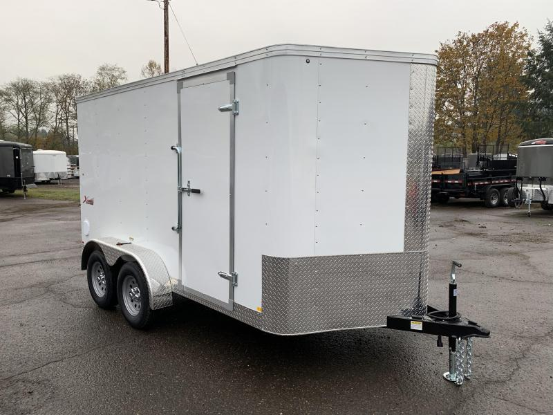 6x12 Enclosed Tandem Axle Cargo Trailer With ramp