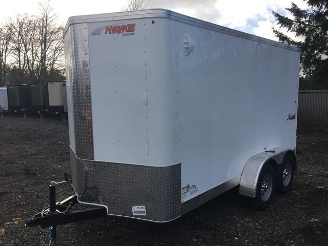 6x12 Enclosed Tandem Axle Cargo Trailer With Double Door