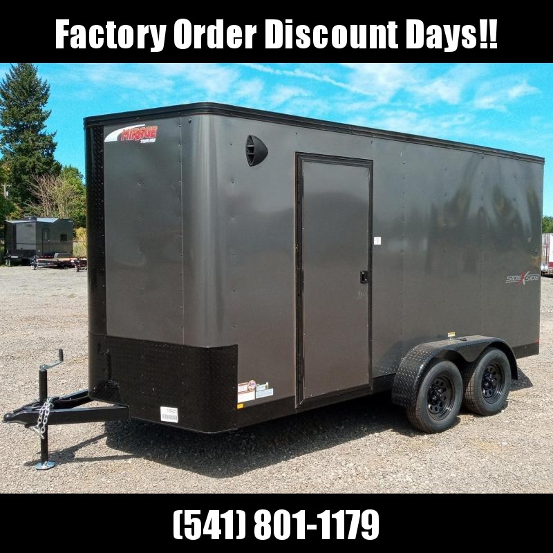 7x14 Enclosed Cargo Trailer **Side X Side** **FACTORY ORDER**
