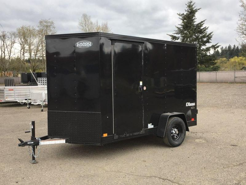 6x10 Enclosed Trailer With Ramp RV Door **Black Out**