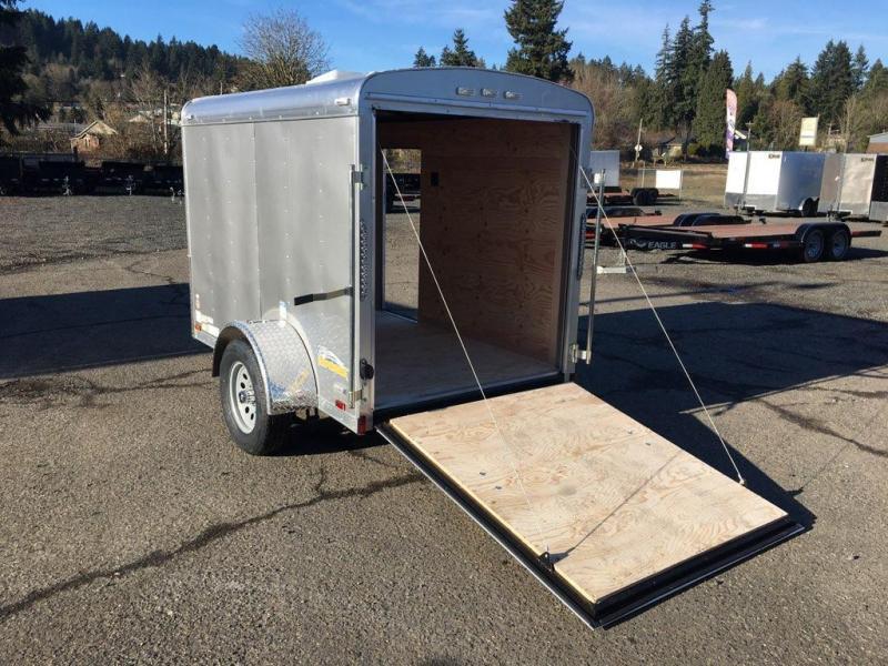 5x8 Enclosed Cargo Trailer With Ramp Door