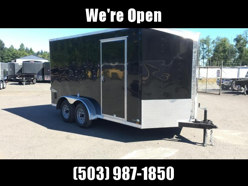 7x14 Tandem Axle Enclosed Cargo Trailer **Slant V Nose**