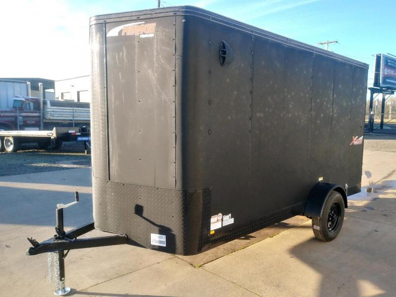 6x12 Enclosed Cargo Trailer  ** Double Barn Door **  Interior spare tire Mount  ** Spare tire included  **