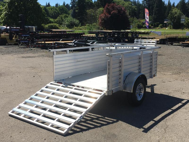 "5X8 Aluminum Utility Trailer With 30"" Sides And Drop Gate 3K"