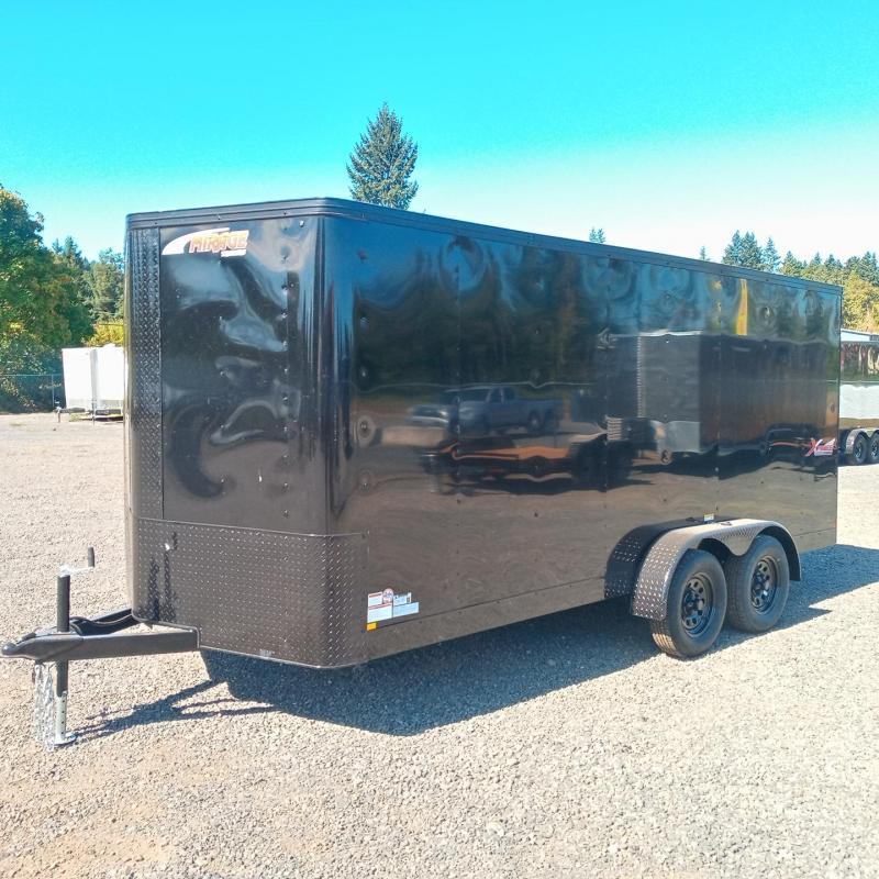 7x16 Enclosed Cargo Trailer w/ Rear Ramp Door