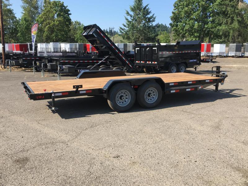 7x20 Equipment Trailer - 14k Heavy Duty