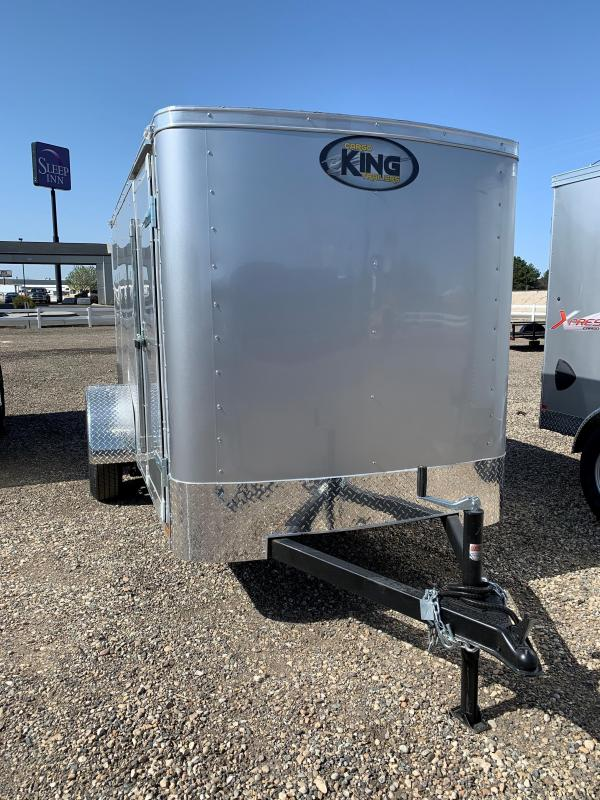 Cargo King 5X8 Single Axle Enclosed Trailer With Rear Ramp Door