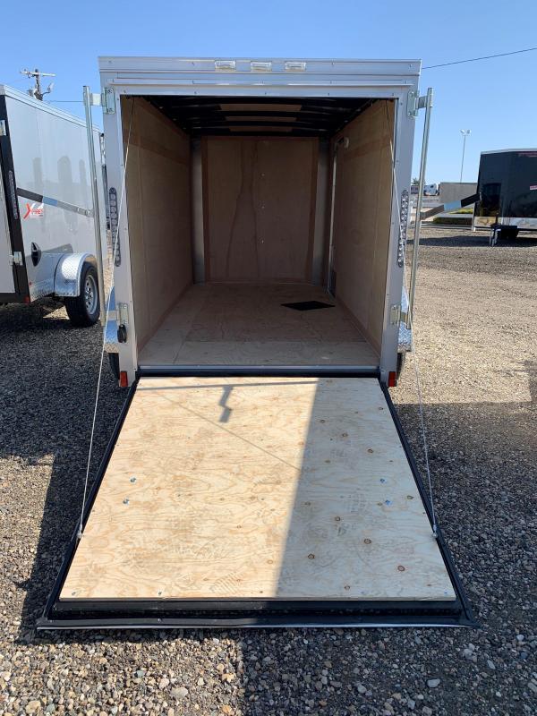 Cargo King 5X8 Single Axle Enclosed Trailer With Rear Ramp Door