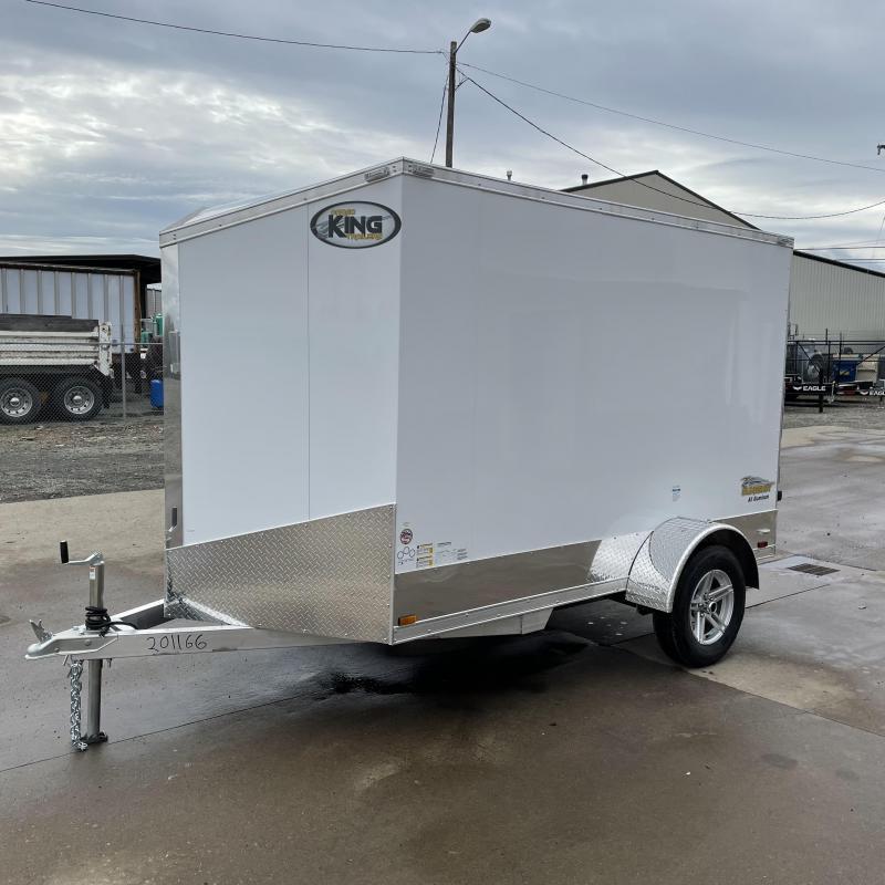 6x10 Slant Nose Aluminum Enclosed Cargo Trailer